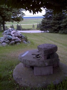 Road trip: Chipoudy, Pierre Thibodeau's millstone, found in a nearby creek
