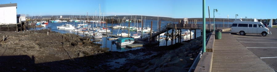 Roadtrip: Annapolis Basin, Digby campsite at low tide