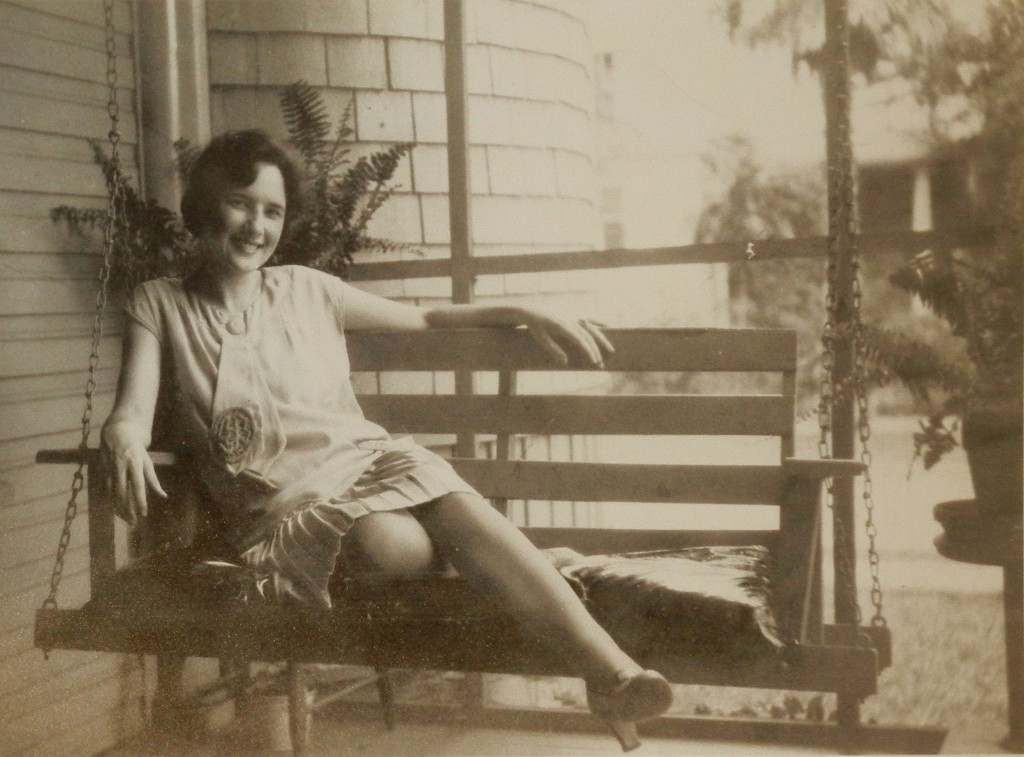 Stella Champagne, 1928, age 24 - Lake Charles,La. after graduation from New Orleans Conservatory of Music