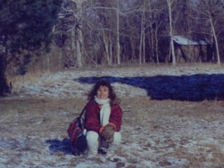 Visiting the farm in the winter 1989 snow