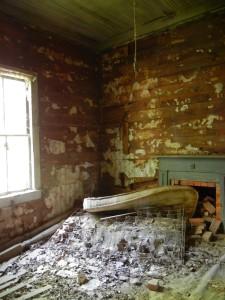 bedroom, east wall